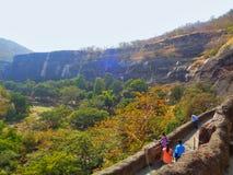 Caverne di Ajanta Immagine Stock Libera da Diritti