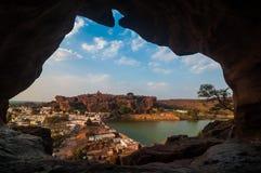 Caverne di Badami Fotografia Stock Libera da Diritti