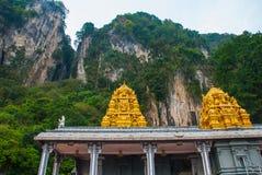Caverne di Batu Tempio indiano con oro Kuala Lumpur, Malesia Fotografia Stock Libera da Diritti