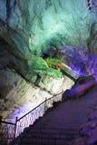 Caverne di Borra, valle di Araku, Andhra Pradesh, India Immagine Stock
