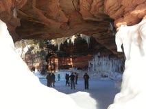 Caverne di ghiaccio Immagine Stock Libera da Diritti