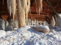 Caverne di ghiaccio Fotografie Stock