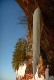 Caverne di ghiaccio di Wisconsin - il lago Superiore fotografie stock libere da diritti