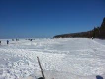 Caverne di ghiaccio sul lago Superiore Immagini Stock
