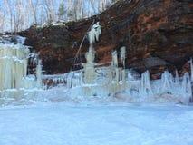 Caverne di ghiaccio sul lago Superiore Fotografie Stock Libere da Diritti