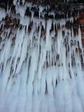 Caverne di ghiaccio sul lago Superiore Immagini Stock Libere da Diritti