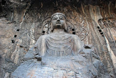 Caverne di Longmen Fotografie Stock Libere da Diritti