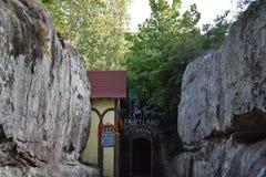 Caverne di paese delle fate ai giardini della città della roccia a Chattanooga, Tennessee Immagini Stock Libere da Diritti