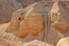 Caverne di Qumran - deserto di Judean Immagine Stock Libera da Diritti