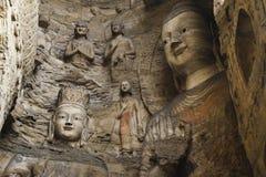 Caverne di Yungang Immagini Stock Libere da Diritti