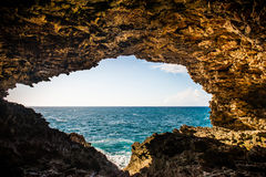 Caverne en Barbade, île des Caraïbes photographie stock libre de droits