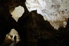 Caverne en montagnes d'Apuseni, Roumanie Images libres de droits