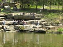 Caverne en parc d'Umans Photo libre de droits