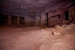 Caverne en pierre Photos libres de droits