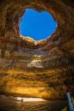 Caverne en plage de Benagil Photographie stock libre de droits