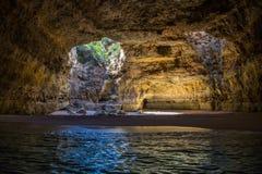 Caverne en plage de Benagil Images libres de droits