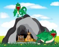 Caverne et dragons illustration stock