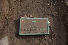 Caverne Hawaï de crachement de plaque commémorative Images stock