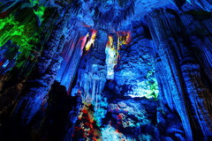 Caverne a lamella della scanalatura a Guilin Immagine Stock Libera da Diritti