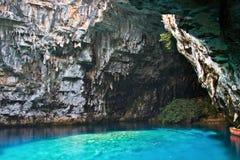 Caverne limnétique de Melissani chez Kefalonia Photographie stock libre de droits