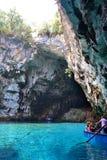 Caverne Melissani, Grèce photographie stock