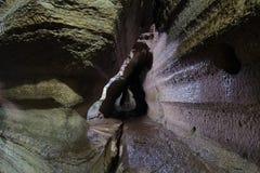 Caverne naturelle dans le bouclier de Laurentian Image stock