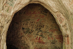 Caverne peinte Photo stock