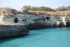 Caverne a poesia, Italia del sud Immagine Stock