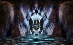 Caverne sacrée photographie stock libre de droits