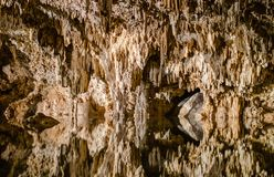 Caverne sotterranee Cenote Labnaha, maya di Riviera, Messico fotografia stock