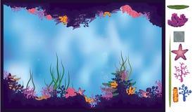 Caverne sous-marine Image libre de droits