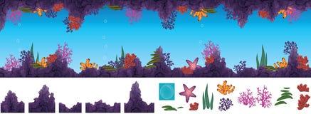 Caverne sous-marine Photographie stock