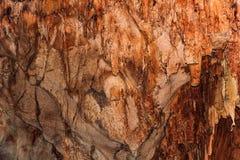 Caverne souterraine avec des stalactites et des stalagmites photo stock