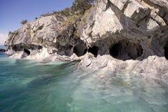 Cavernes au Général Carrera Lake, Patagonia, Chili Images libres de droits