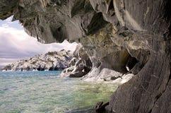Cavernes au Général Carrera Lake, Patagonia, Chili Photos stock