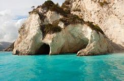Cavernes bleues Photos libres de droits