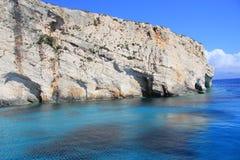 Cavernes bleues de Zakynthos Images libres de droits