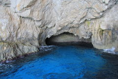 Cavernes bleues de Zakynthos Image libre de droits
