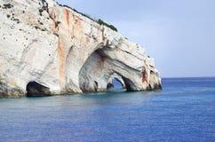 Cavernes bleues de Zakynthos photo libre de droits