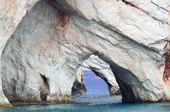 Cavernes bleues de Zakynthos image stock