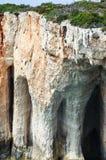 Cavernes bleues de Zakynthos photographie stock libre de droits