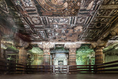 Cavernes d'Ajanta, Inde photos stock