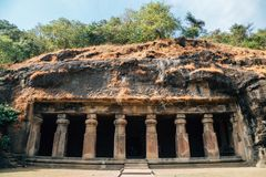 Cavernes d'Elephanta dans Mumbai, Inde photographie stock libre de droits