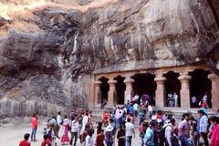 Cavernes d'Elephanta, Mumbai image libre de droits