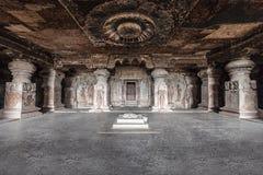 Cavernes d'Ellora, Aurangabad images libres de droits