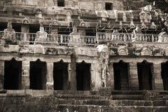 Cavernes d'Undavalli dans l'Inde Images libres de droits