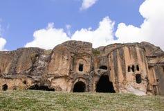 Cavernes dans Anatolie, Turquie Photographie stock libre de droits