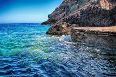 Cavernes de bleu de Zakyntos Grèce Photo stock