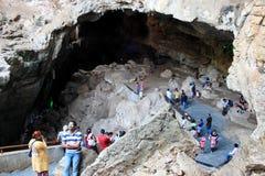 Cavernes de Borra, vallée d'Araku, Andhra Pradesh, Inde Image libre de droits