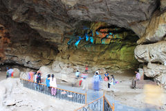 Cavernes de Borra, vallée d'Araku, Andhra Pradesh, Inde Photo libre de droits